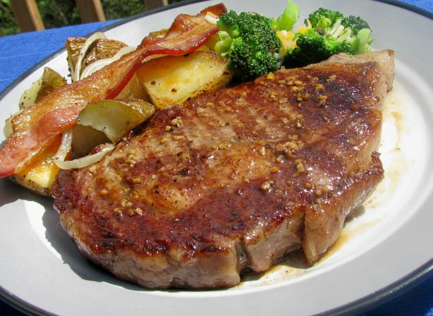 Garlic Grilled Steaks (Basting Sauce)