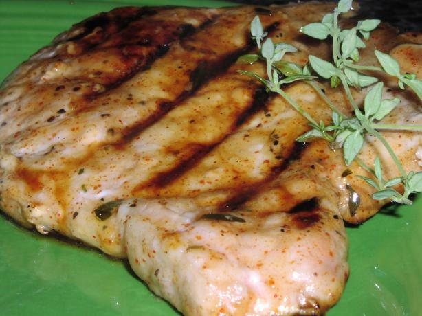 Grilled Pork Cutlets With Maple Chipotle Glaze