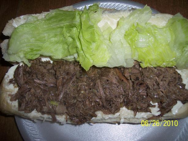 Crock-Pot Shredded Beef Sandwiches