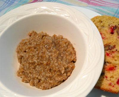 Spiced Irish Oatmeal (Diabetic Friendly)