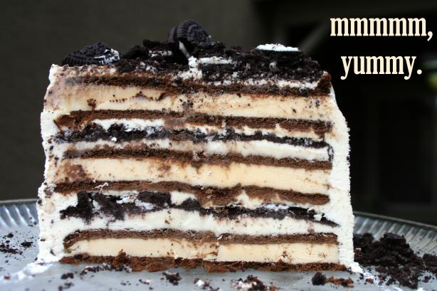 3 Ingredient Ice Cream Sandwich Cake