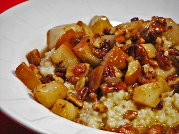 Irish Oatmeal With Pears and Maple