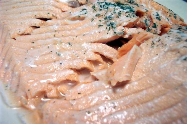 Chuck's Easy Poached Salmon