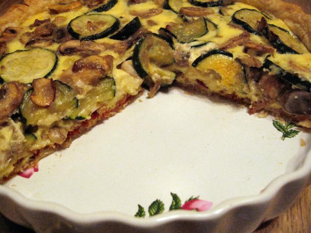 Zucchini and Mushroom Quiche
