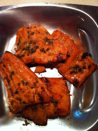 Grilled Orange and Bourbon Salmon