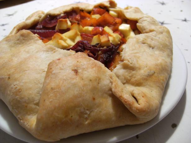 Roasted Butternut Squash and Feta Pie