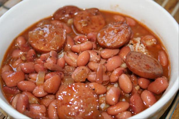 Red Beans Served With Rice