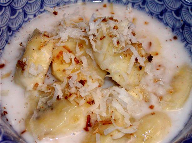 Banana in Coconut Cream