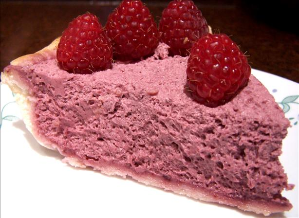 Easy Raspberry Cream Cheese Chiffon Pie