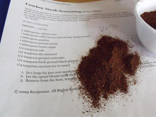 Cowboy Steak Seasoning