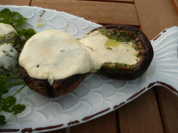 Pesto Grilled Mushrooms