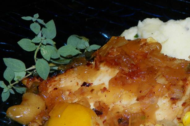 Braised Chicken With Lemon and Honey