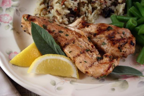 Seared Lemon Chicken With Garlic, Honey & Balsamic Vinegar