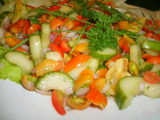 Tomato & Cucumber Salad With Mint