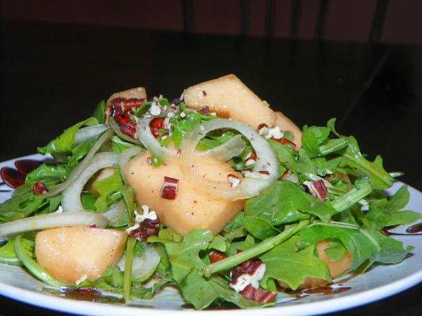 Cantaloupe, Red Onion, & Walnut Salad