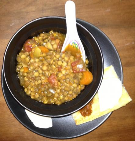 Slow Cook Lentil-Sweet Potato Soup