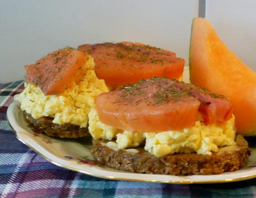 Open-Face Salmon and Egg Scandinavian Sandwich