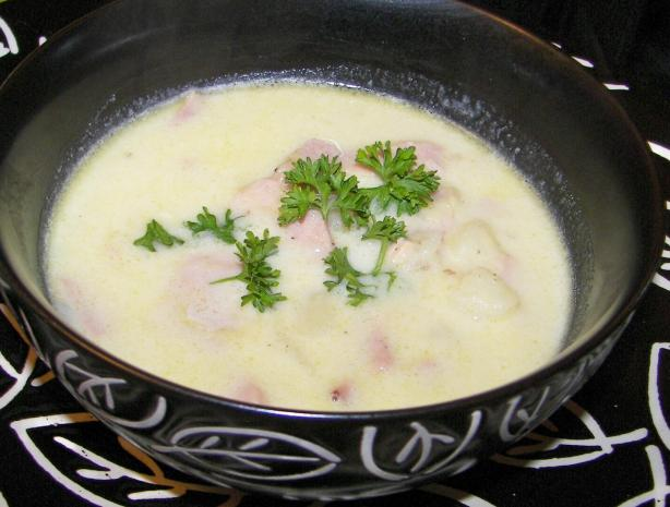 Potato, Leek & Ham Soup
