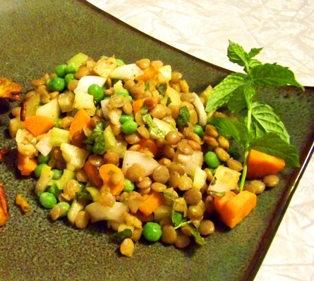 Garden Vegetable Lentil Salad