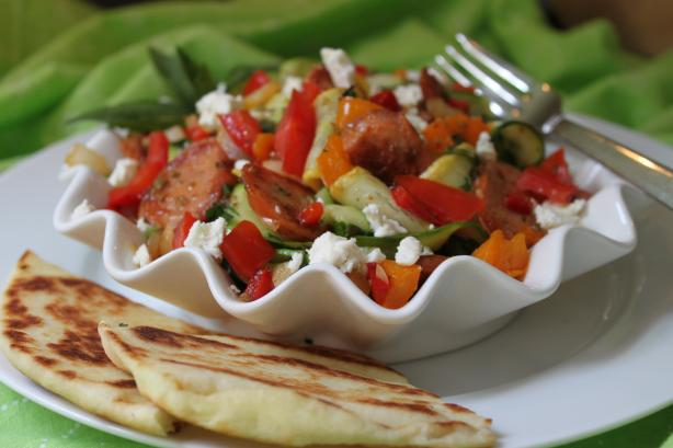 Ribbons of Zucchini Mediterranean Salad