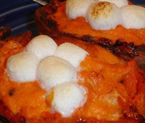 Twice Baked Sweet Potatoes - on the Light Side!