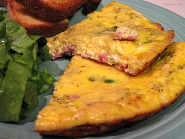 Spring Frittata With Ham, Asparagus, and Herbs