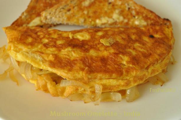 Simple Mushroom Omelette