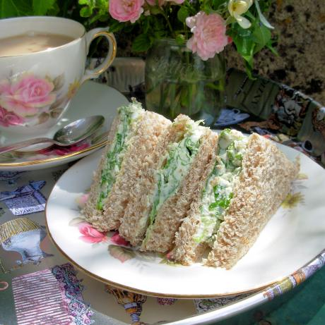 Cream Cheese Tea Sandwiches With Salad Burnet