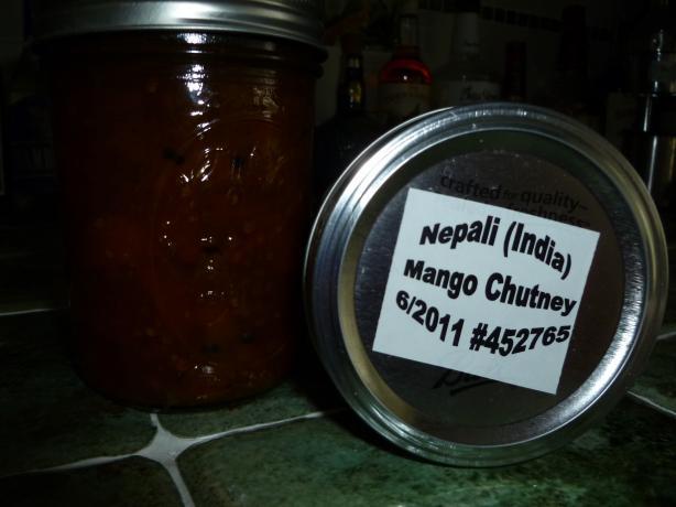 Nepali (India) Mango Chutney
