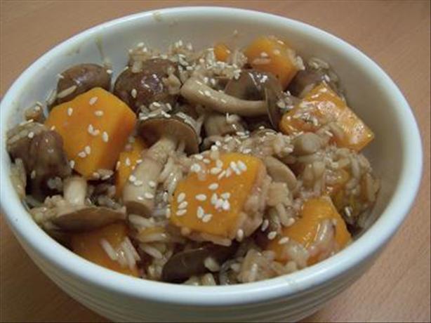 Japanese Mushroom, Chestnut & Butternut Squash Pilaf