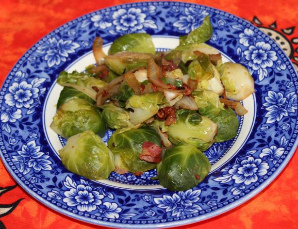 Brussels Sprouts With Pancetta & Onions Recipe (Woman's Day)