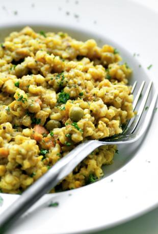 Barley and Red Lentil Pilaf