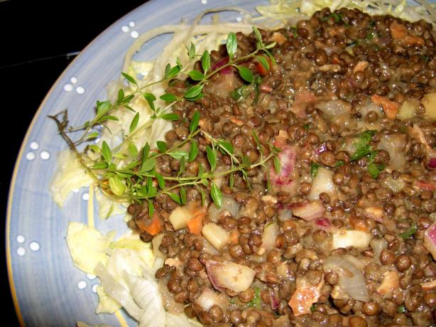 Lentils Du Puy and Bacon Salad