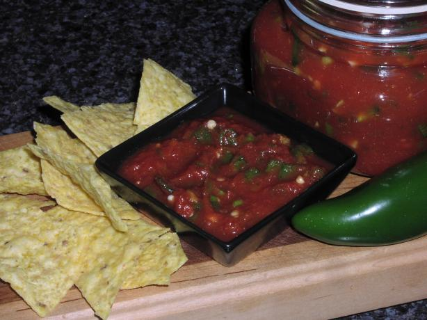 Easy Salsa Made With Canned Tomatoes