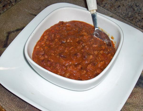 Chef Joey's Anasazi Bean Chili (Pressure Cooker)