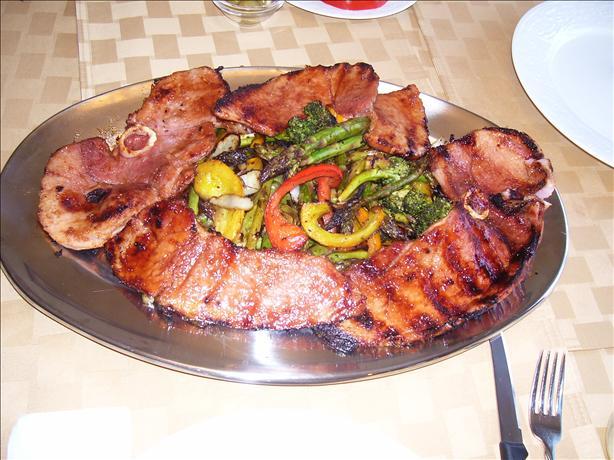 Grilled Ham With Glaze