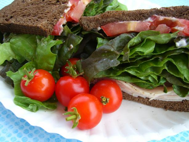 Salad on a Sandwich