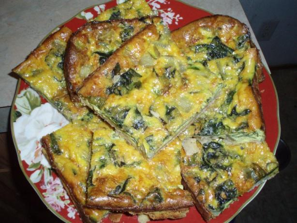 Silverbeet Quiche With Cream Cheese Crust