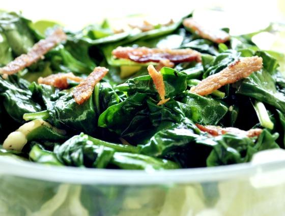 Buendner Spinach With Smoked Bacon