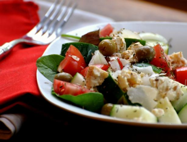 Greek Salad W/Feta and Olives