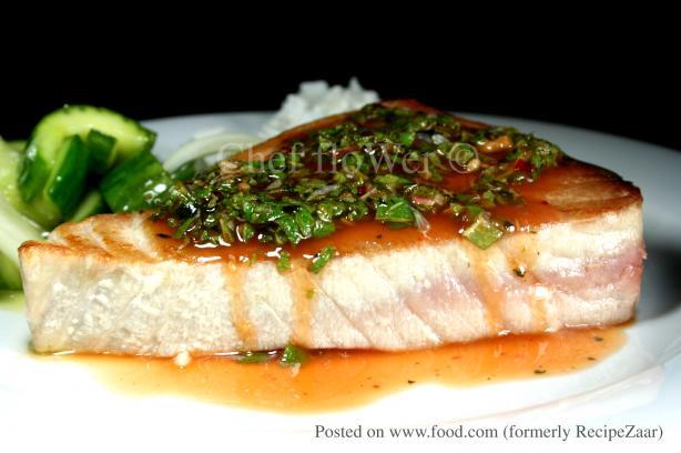 Tuna/Swordfish Steaks With Thai Dressing