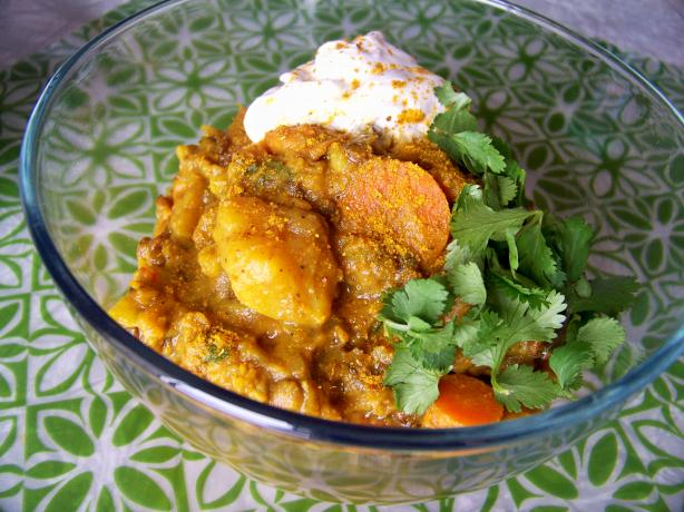 Spicy Root Vegetable & Lentil Casserole