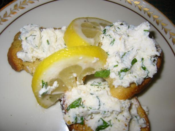 Lemon Herb, Homemade Ricotta & Roasted Tomato Crostini