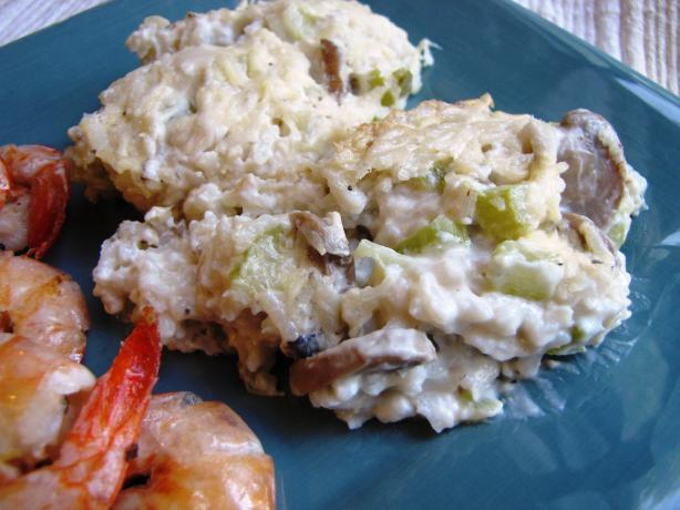Lightened Creamy Mushroom-Rice Casserole