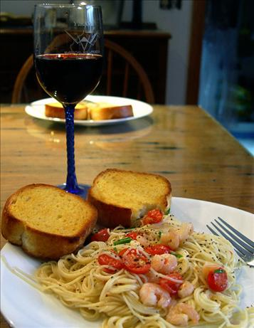 Baby Shrimp Scampi and Angel Hair Pasta (Rachael Ray)
