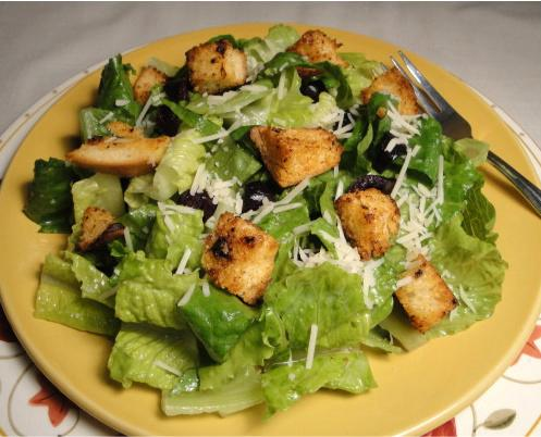 Romaine Hearts With Sourdough Croutons and Parmesan