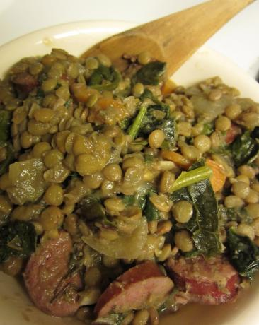 Lentil Stew With Sausage