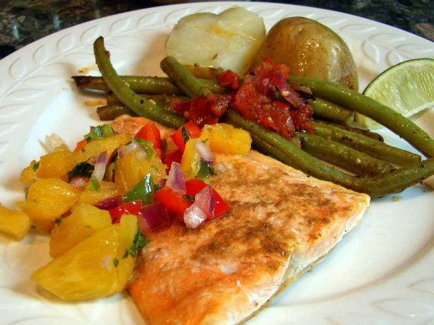 Salmon With Fresh Pineapple Salsa