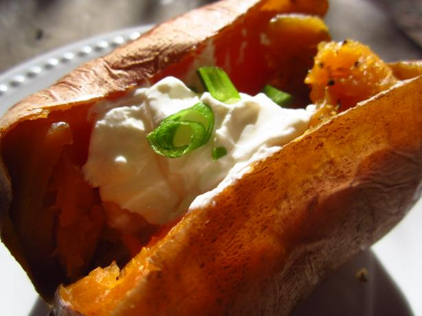 Lemon Pepper Baked Sweet Potato
