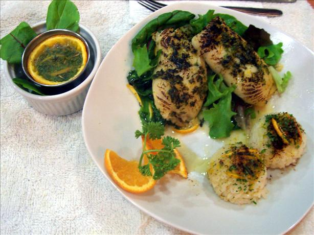 Fish Fillets in Orange Herb Sauce